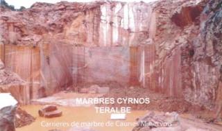 MARBRERIE CYRNOS CAUNES MINERVOIS