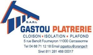 Logo GASTOU PLATRERIE pour en-tête redimensionné